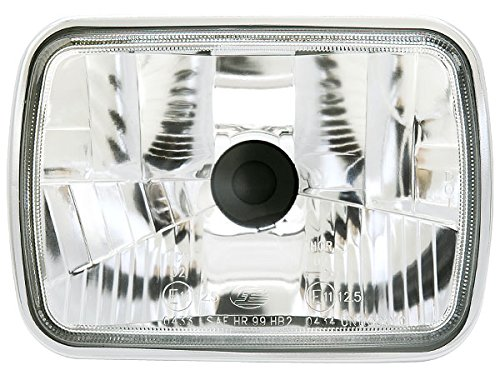 Big-One(ビッグワン) H4 ヘッドライト 車検対応 ガラス製 HID対応 角型 クリア 10854