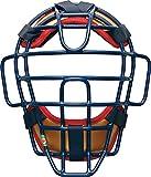 ゼット(ZETT) 軟式野球 キャッチャーズギア キャッチャー用マスク ネイビー×ゴールド2(2982A) 日本製 BLM3298C
