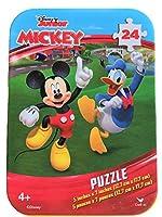 ディズニージュニア (Disney Junior)子供向け ジグソーパズル - アルミケース付き [24ピース]『ミッキーマウス クラブハウス』 )