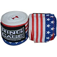 USA Flag Printed Handwraps Mexican Style Stretchable 180