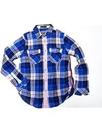 (カステルバジャック) CASTELBAJAC 長袖カットソー シャツ #40 メンズ チェック 324-177-R 中古