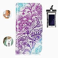 耐汚れ 耐摩擦 Samsung Galaxy S9 Plus ケース 手帳型 本革 レザー カバー 財布型 スタンド機能 カードポケット 耐摩擦 全面保護 人気 アイフォン[無料付防水ポーチケース]