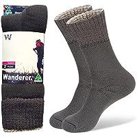 Wanderer Womens 2 Pair Value Pack Hike Work Snow Socks Australian Made GREY