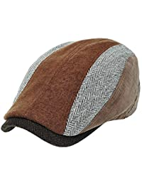 [PLIC N PLOC]EMH20. 5パターンヘリンボーンメンズベレー帽 ハンチング フラットキャップ帽子 鳥打ち帽 秋 冬