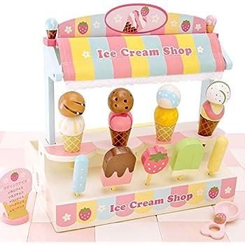 マザーガーデン おままごと アイスクリーム ショップ 〔木製 ままごとセット アイスクリーム屋さん〕お店屋さん ごっこ 998-01066