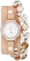 ラメールコレクションズ La Mer Collections Women's LMDELCRY1505 Portugal Crystal Coppertone Analog Display Quartz Champagne Watch [並行輸入品]