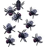 Guestway 100Pcs Verisimilar Fake Fly Toys Magic Plastic Bugs HALLOWEEN PROP for Prank Black by Guestway
