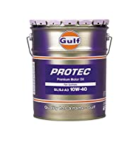 Gulf [ ガルフ ] Gulf PROTEC [ ガルフプロテック ] 10w40 [ SL・A3 ] 部分合成油 [ 20L ]  [HTRC3]