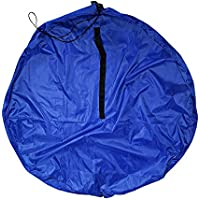 MIOIM 布団収納袋 ふとん収納袋 ぬいぐるみ収納袋 衣類収納ケース 収納ケース おりたたみ 多用途 丸型 (150 x 1.00 x 150 cm)