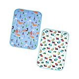 Babyfriend 2 Pack Reusable Changing Pad Portable Play Mat Liner Protector Change Diaper Waterproof for Home Travel Bed Play Stroller Babies