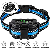 Casfuy Bark Collar IP67 Waterproof Rechargeable - New Upgraded Dog No Bark Collar with Smart Detected Chip for Small Medium Large Dogs