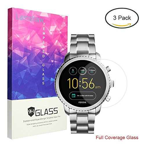 [해외]Lamshaw Fossil Q Explorist 보호 필름~ 9H 유리 필름 커버 대응 FOSSIL 시계 Q EXPLORIST/Lamshaw Fossil Q Explorist protective film~ 9H glass film cover compatible FOSSIL watch Q EXPLORIST
