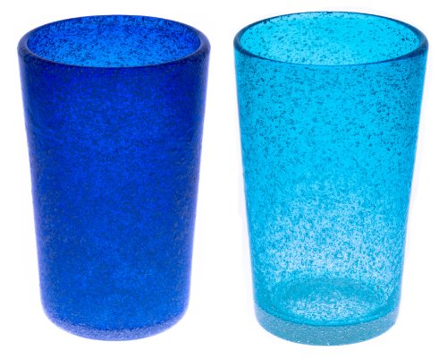 泡ロンググラス2個セット(青・水)
