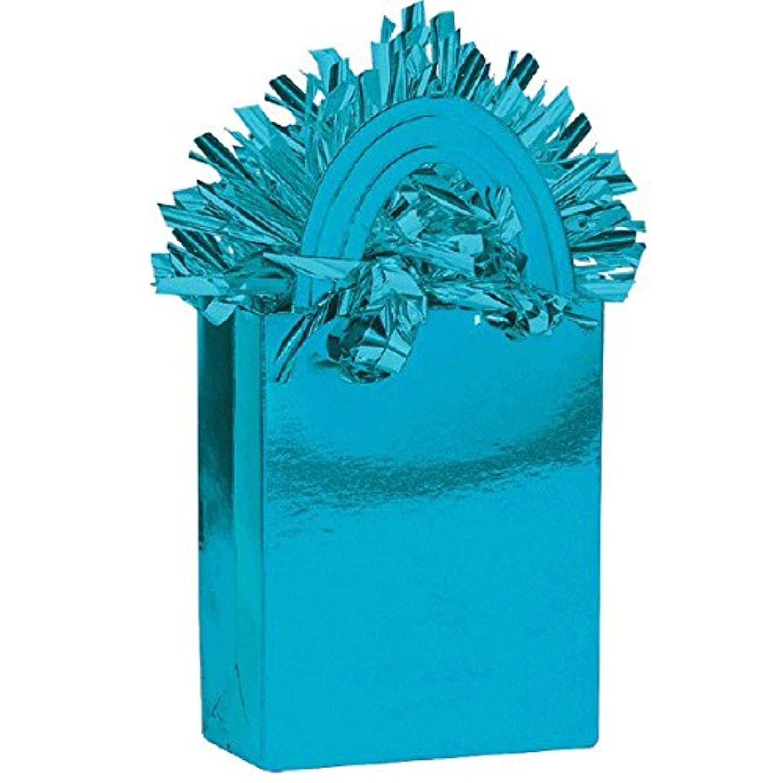 Caribbean Blue Miniトートバッグパーティーバルーン重量装飾、カードストック、5.7 Oz。。