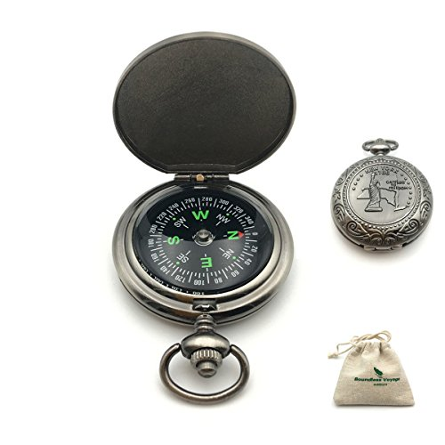 Boundless Voyage コンパス アウトドア キャンプ 登山 ハイキング ポータブルな旅行 方位磁石 羅盤 専用袋付