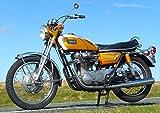 絵画風 壁紙ポスター (はがせるシール式) ヤマハ XS650 XS-1 初期型 1970年 ...