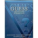 Guess Seductive Homme Eau de Toilette Spray for Men, Blue, 100ml