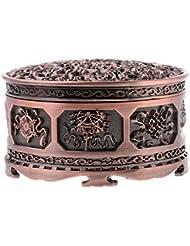 Fenteer チベット 合金 香りバーナー 煙 コーン 香炉 金属 アロマストーブ ホーム 装飾 全3色 - 浓いかっしょく