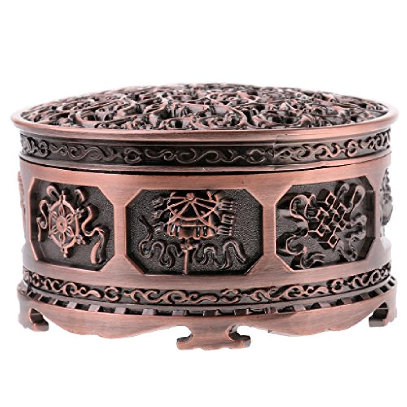 宝石伝導率現実Fenteer チベット 合金 香りバーナー 煙 コーン 香炉 金属 アロマストーブ ホーム 装飾 全3色 - 浓いかっしょく