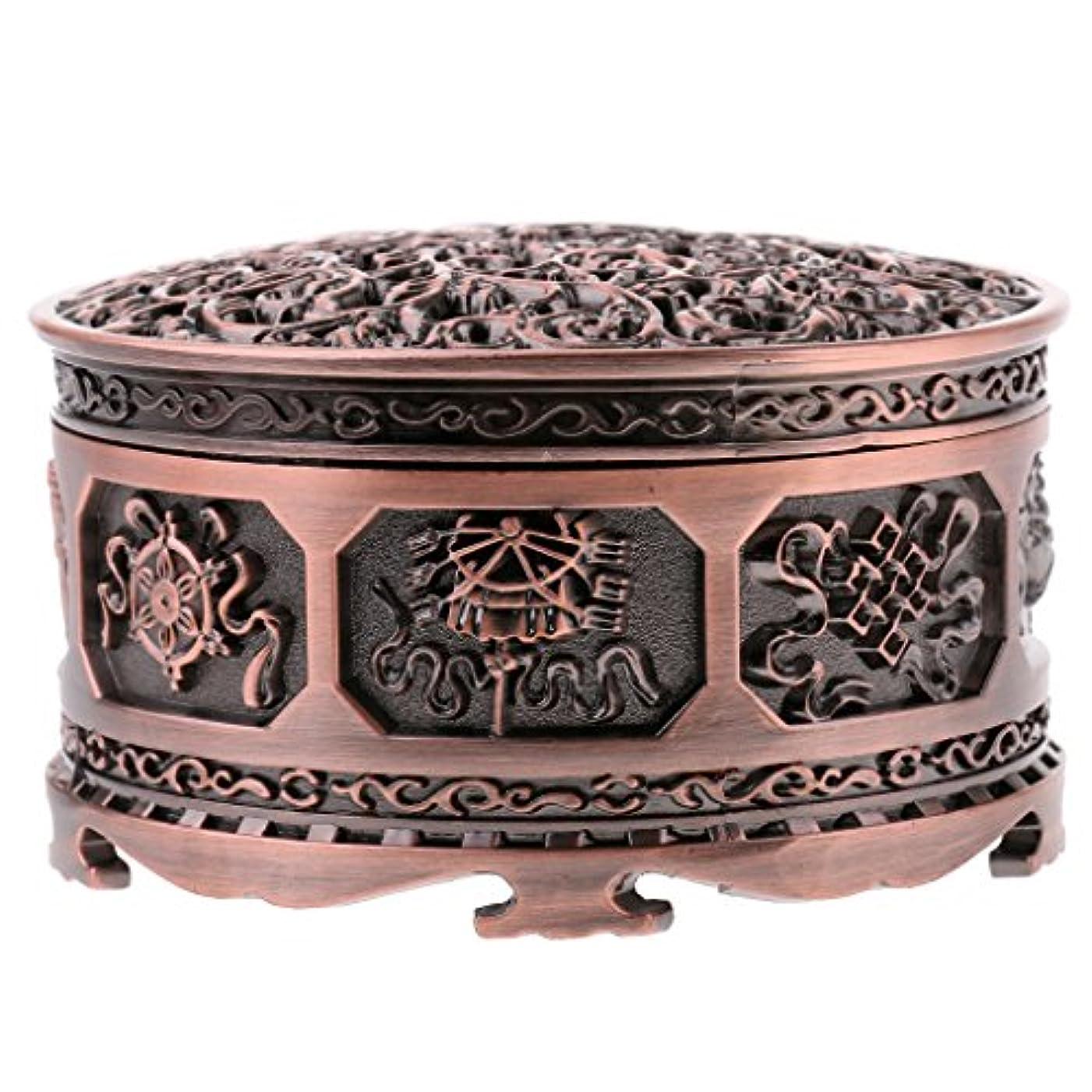 不幸オリエントスモッグFenteer チベット 合金 香りバーナー 煙 コーン 香炉 金属 アロマストーブ ホーム 装飾 全3色 - 浓いかっしょく