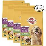 PEDIGREE Adult Chicken Dry Dog Food 3kg Bag, 4 Pack
