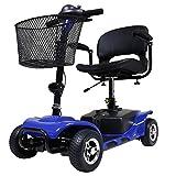 【個人宅配送不可】HAIGE 車椅子 シニアカー ハンドル形 電動 福祉 HG-3431A カラー:ブルー