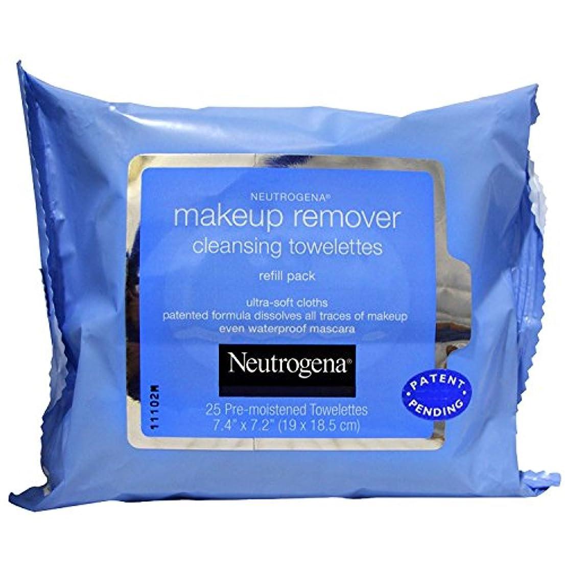 混雑主権者不測の事態NEUTROGENA Makeup Remover Cleansing Towelettes Refill Pack - 25 Count - 25 Towelettes