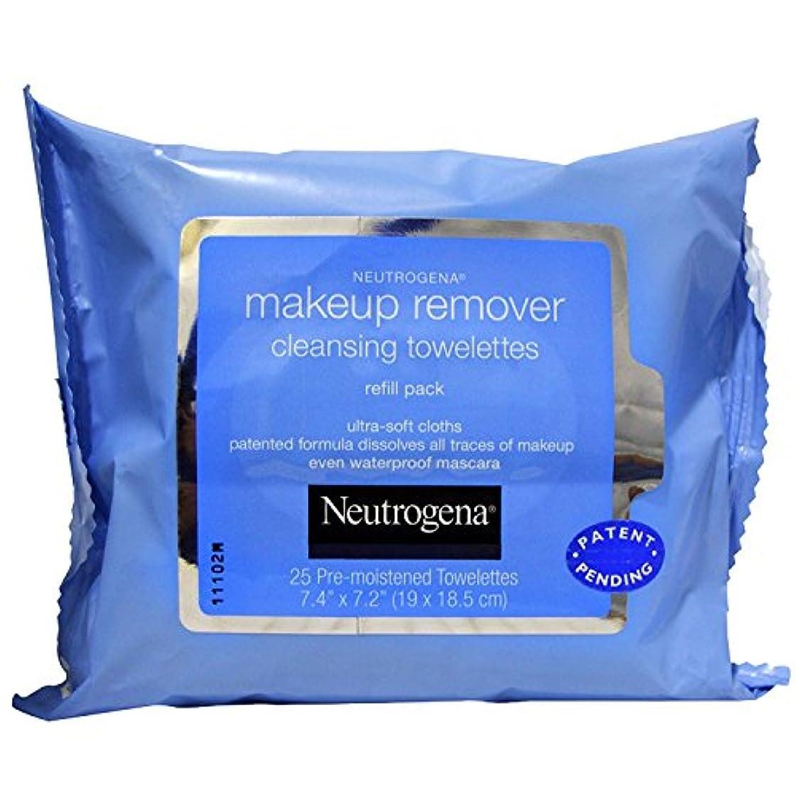 パキスタン人余裕があるストローNEUTROGENA Makeup Remover Cleansing Towelettes Refill Pack - 25 Count - 25 Towelettes