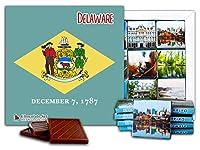 """DA CHOCOLATE キャンディ スーベニア """"デラウエア"""" DELAWARE チョコレートセット 5×5一箱 (Flag)"""