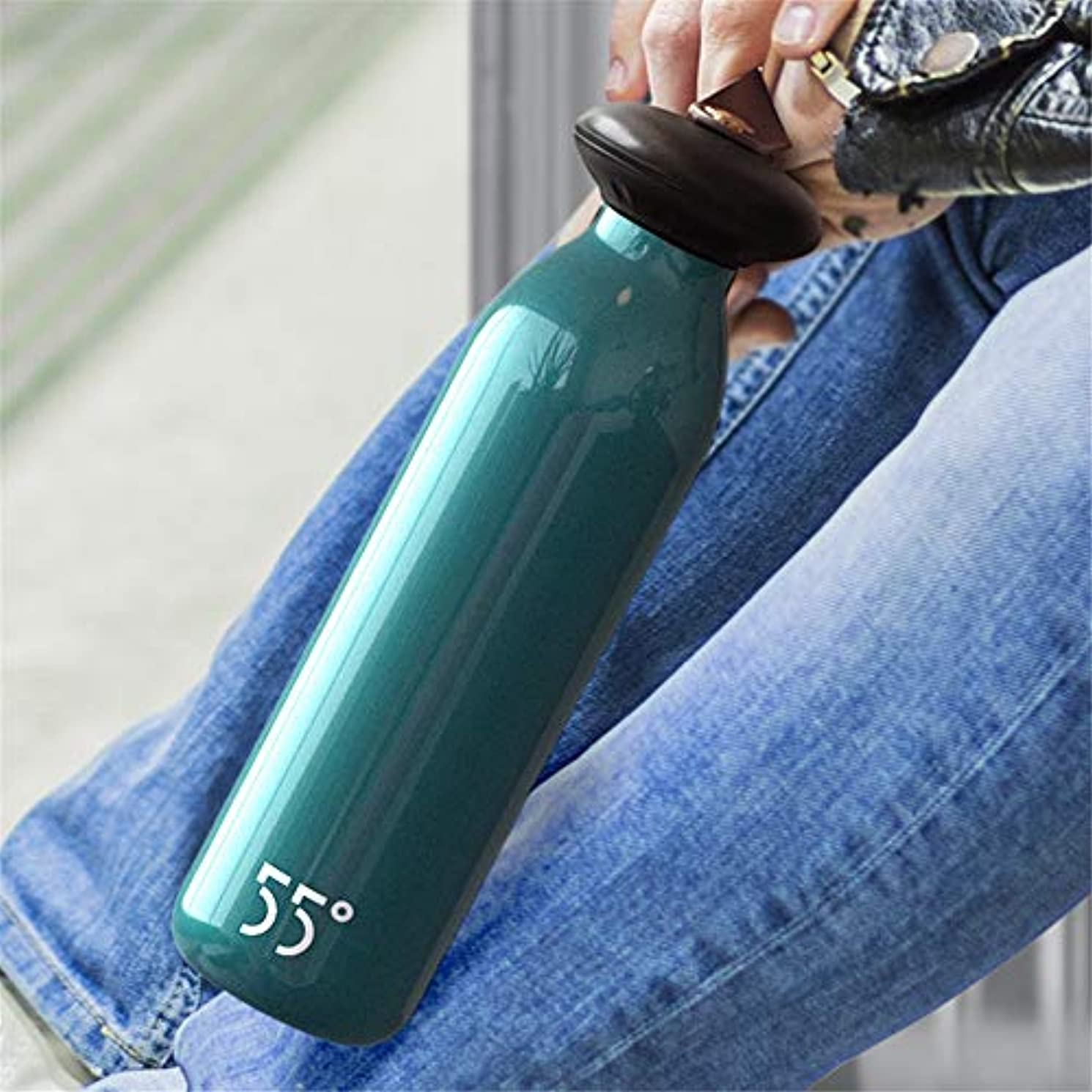 グラスお酢ブレーキ屋外の車のポータブル断熱ポット、ステンレス鋼の漏れ防止ケトルカップ、24時間断熱カップインテリジェント断熱冷水カップ250ミリリットル