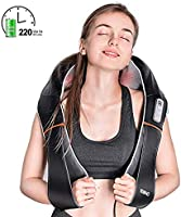 RENPHO Electric Shiatsu Neck and Back Massager with Heat, Deep Tissue 3D Kneading Massage Pillow for Pain Relief on...