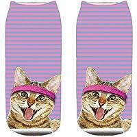 Womens Socks, Morbuy Men 3D Print Cat Kitten Crew Socks Non Slip Soft Cosy Floor Bed Socks Fashion Casual Cute Unisex
