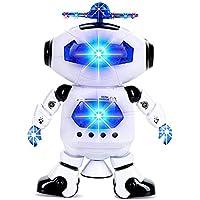 ロボット おもちゃ 電子ダンシングロボット 360 °回転 ライト付き 子供 キッズ 音楽 サウンド おもちゃ