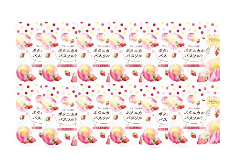 エアコン地下鉄雑草松田医薬品 フルーツが香るボタニカルバスソルト ピーチ&ストロベリー 30g 12個セット