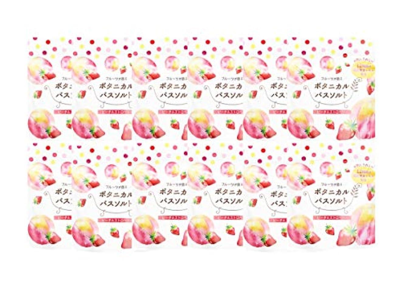 株式会社全能石松田医薬品 フルーツが香るボタニカルバスソルト ピーチ&ストロベリー 30g 12個セット
