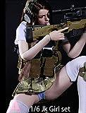 1/6 フィギュア 用 アクセサリー/ ARMSHEAD JK GIRL SET 女子高生セーラー戦闘風 アウトフィットセット (素体、ヘッド、武器は含まりません)