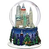 3.5インチNew York City Christmas Snow GlobeとロックフェラーセンタースカイラインNYC Snow Globes