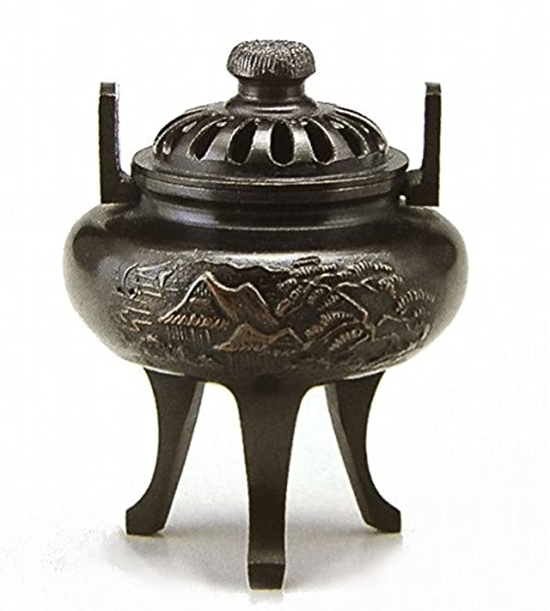ランドマーク部分的所有者『菊蓋山水香炉』銅製