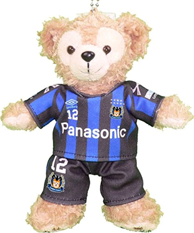 ダッフィー ぬいバサイズ用 大阪のサッカーチーム の青いユニフォーム2016のコスプレ風衣装 ※番号?ネーム指定可