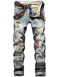 [プチドフランセ ] デニム メンズ ジーンズ ファッション デニムジーンズ denim ワッペン