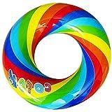 YIYI 浮き輪 レインボー 虹柄フロート プールビーチ (外径60㎝)