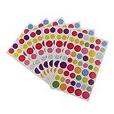 ノーブランド品 12枚セット 日記 ノート 装飾用 ステッカー シール DIY 装飾用 3パタン選べる - 丸い