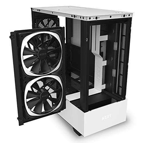 『NZXT H510 Elite 前面+側面ガラスパネル RGB LED発光&ファン制御機能搭載 [ White & Black ] CA-H510E-W1』の6枚目の画像