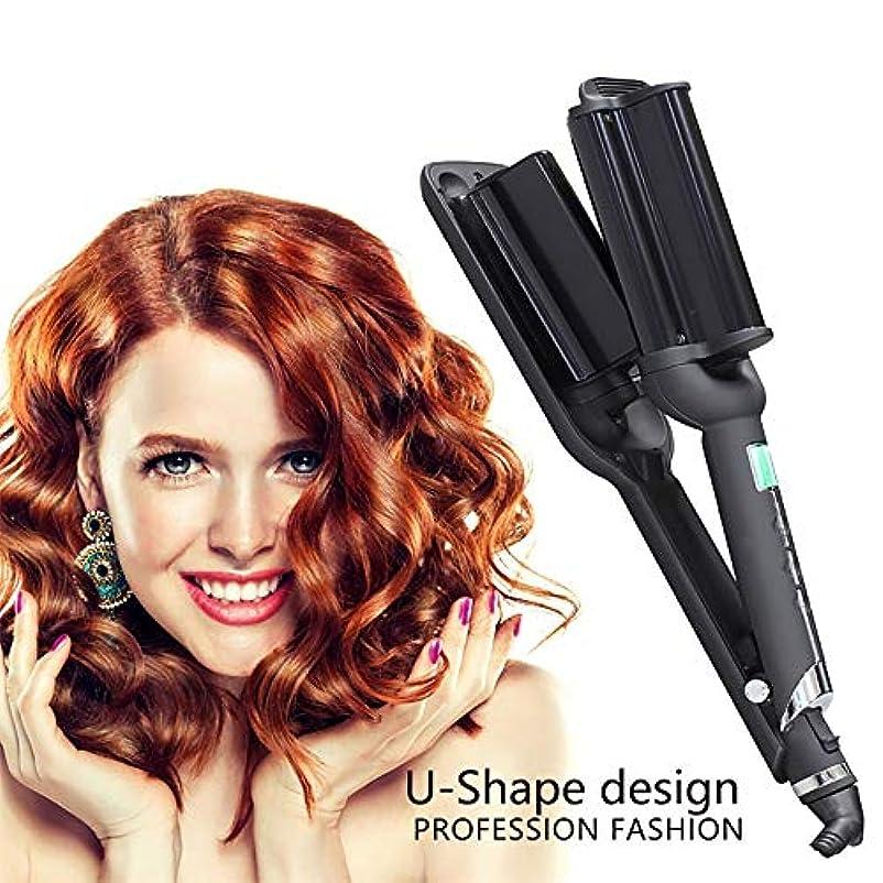 つらいのヒープ嫌悪職業スプレーヘアカーラー、液晶全自動セラミックス理髪ツール、マルチスタイラーロングショートウェットドライヘア用髪にダメージなし