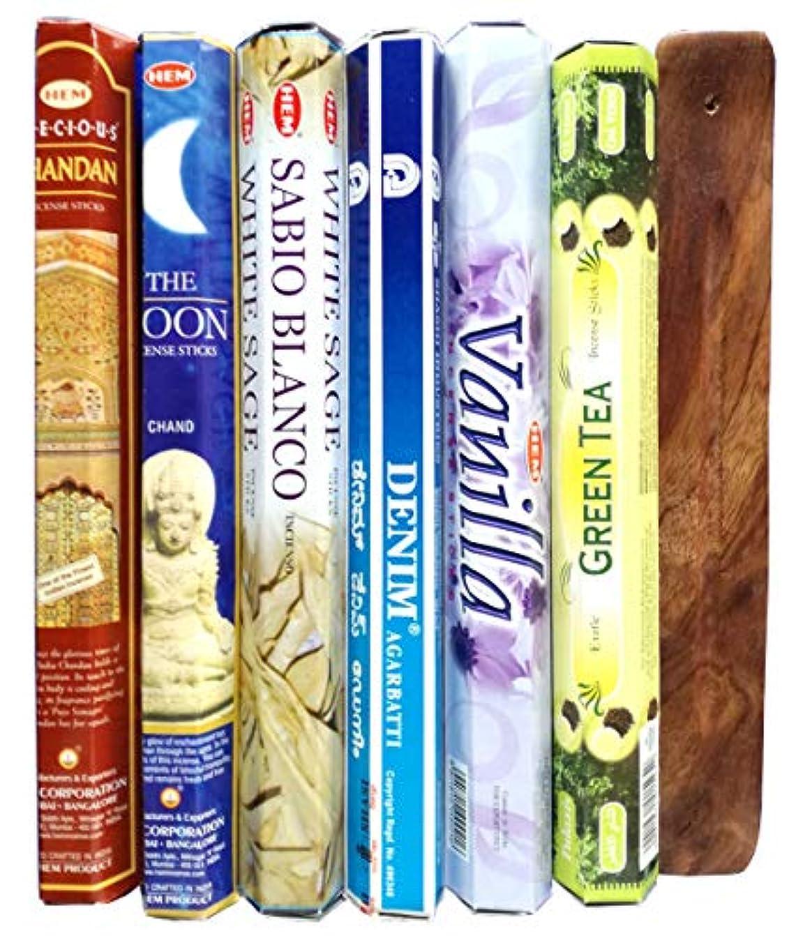 人気のインド香6種類と木の香立て付