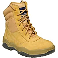 Mongrel 251050 Work Boots. Steel Toe Safety. Wheat Hi-Leg Zip Sider.
