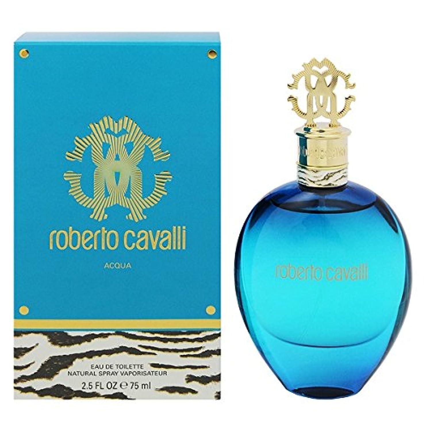 肥沃な外部春Roberto Cavalli Acqua (ロベルト カバリー アクア) 2.5 oz (75ml) EDT Spray for Women