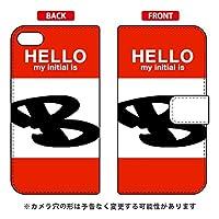 [iPod touch (第6世代)専用] Coverfull スマートフォンケース 手帳型スマートフォンケース Cf LTD ハロー イニシャル アルファベット B (レッド) ATC6TH-IJTC-401-MD89