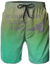 メンズIt Can't Rain All The Time ビーチパンツ 水着 ハーフスイムウェアサーフパンツ ボードショーツ 水陸両用 吸汗速乾