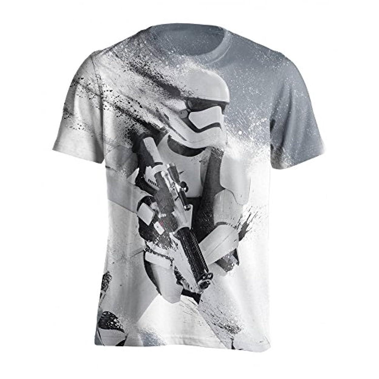 遠近法交渉するタイヤ(スター?ウォーズ) Star Wars オフィシャル商品 メンズ ストーム?トルーパー フェイド 半袖 Tシャツ